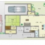 【間取りプラン】間口4.5間×奥行7.5間・2世帯住宅・3階建て