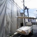 建て方はじまりました。~大阪市住吉区遠里小野H様邸~