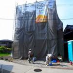 建築中の現場で新しいスーツが灯油と共に。~富田林市S様邸~