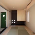 玄関とつながる和室がシンプルでオシャレでしょ?