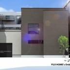 計画中のシンプルデザインのお家の外観