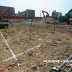 東住吉区の新築分譲のお家、着工です。